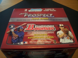 Box 1: 2013 Bowman Baseball 24 Pack Retail