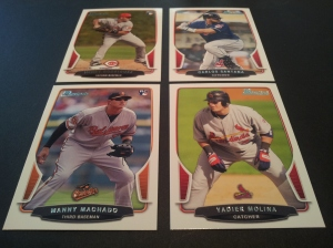 Base Set Cards- Henry Rodriguez RC #44, Carlos Santana #151, Manny Machado RC #215, & Yadier Molina #106