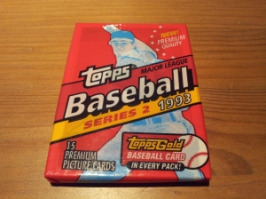 Donated pack from my buddy, Cory.  1993 Topps Series 2.