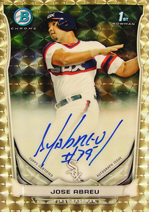 2014-Bowman-Baseball-Prospects-Chrome-Autographs-Superfractor-Jose-Abreu