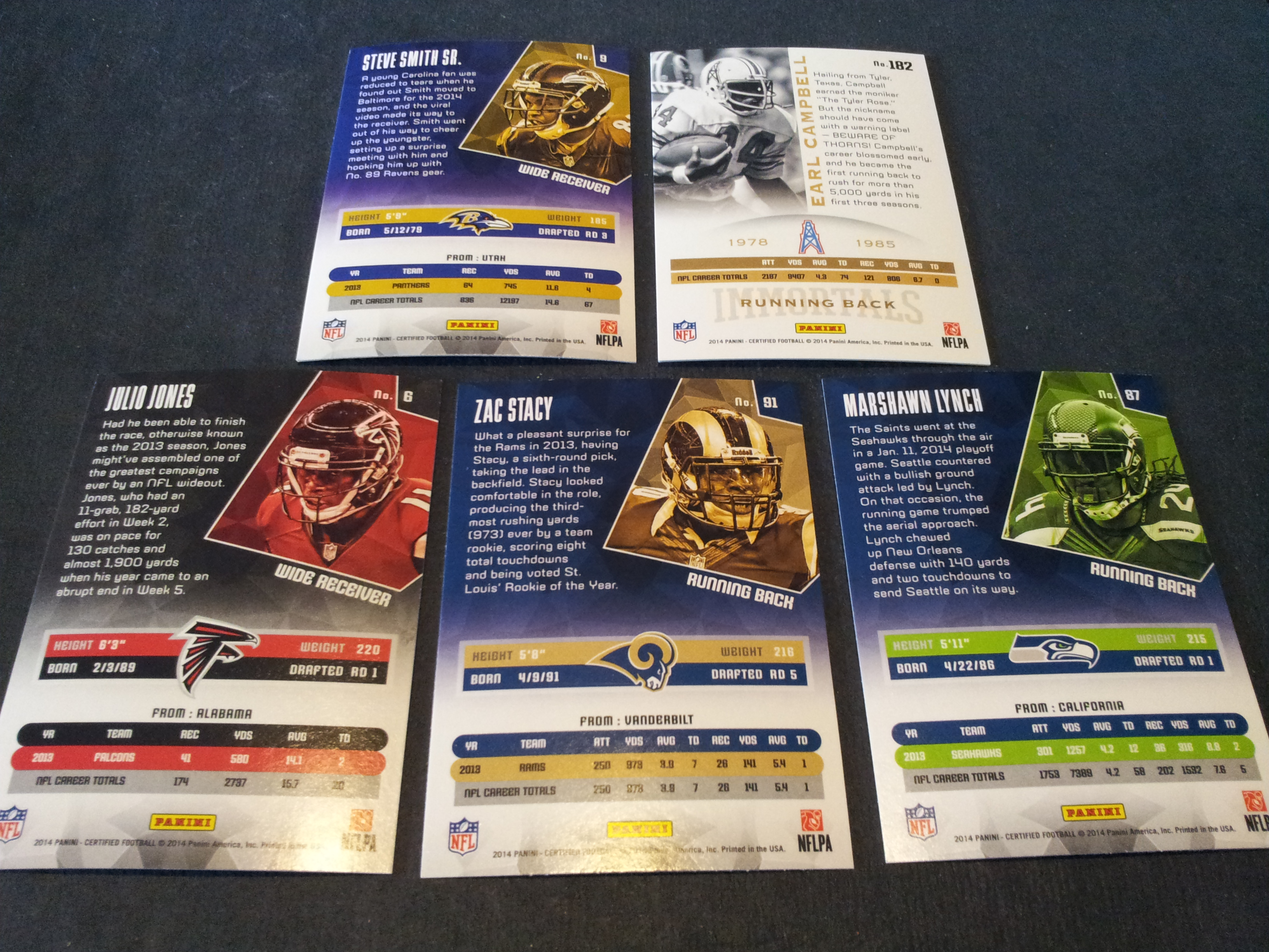 Pack 231 Pack 2 From The Panini Certified Football Box Wax Cracker