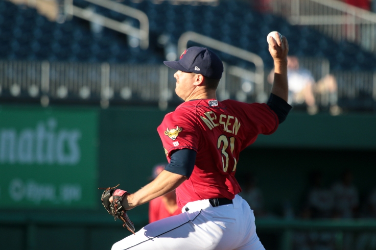 Trey Nielsen, and the State College pitching staff, carried the Spikes throughout the NYPL Playoffs.  (Photo by Christopher Shannon)